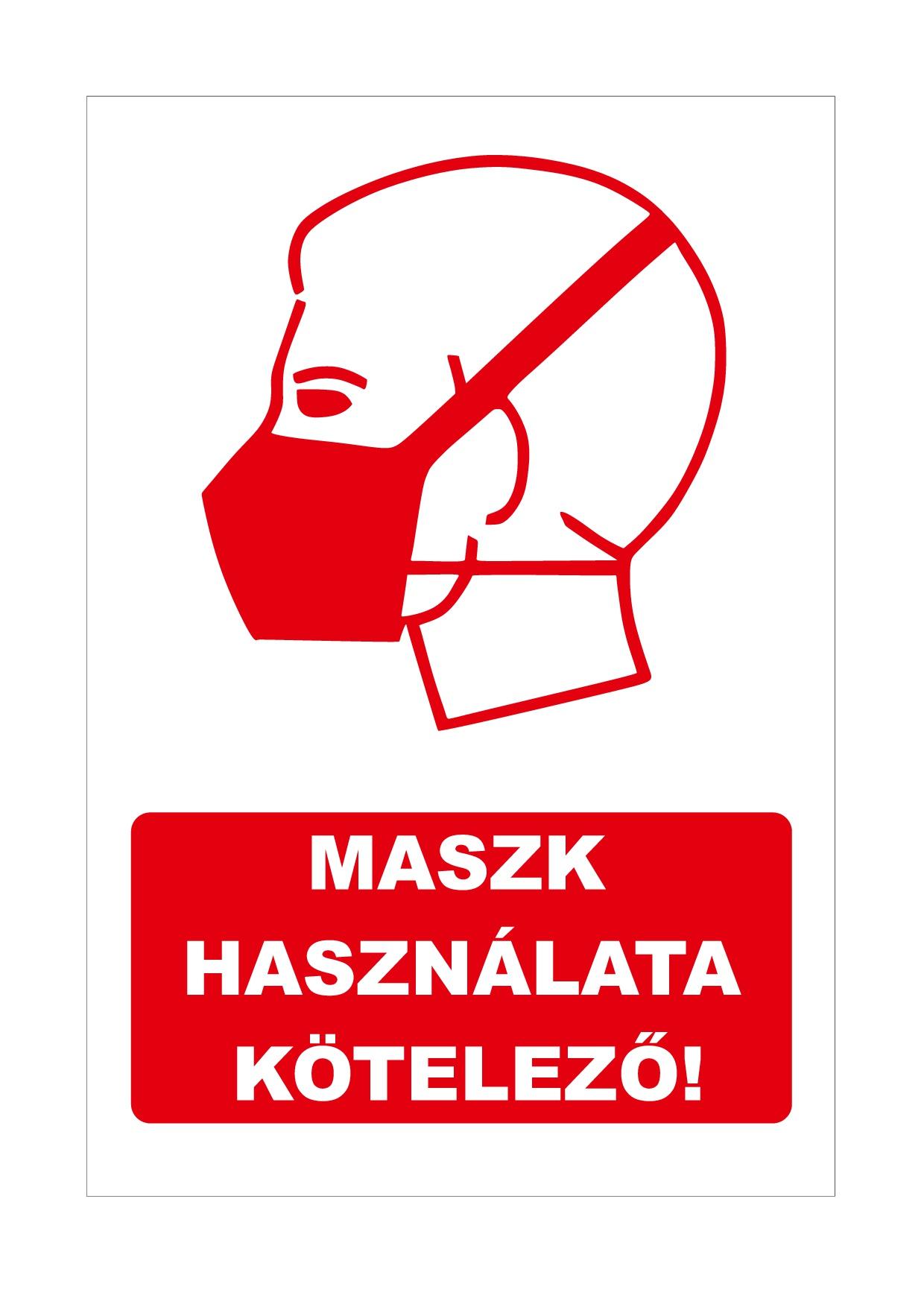 Maszk használata kötelező - Matricák - Elsősegély Felszerelés Webshop -  elsosegelyfelszereles.hu